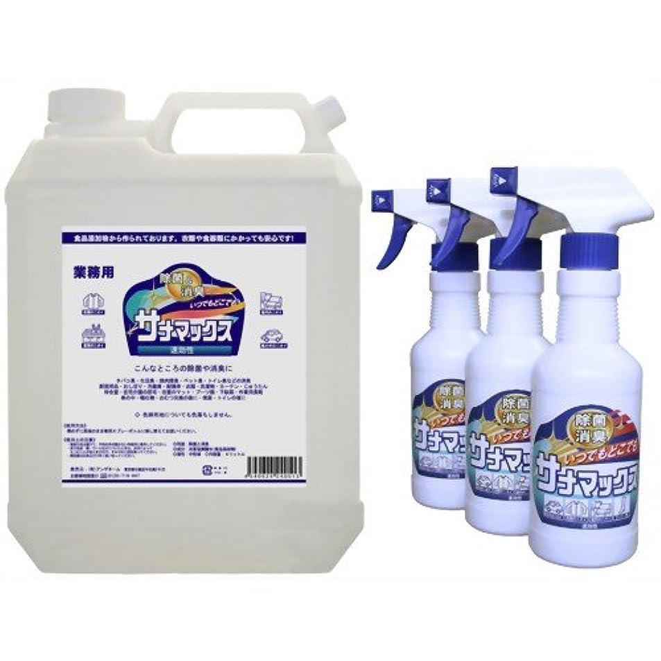 ジョリーペストリー合併症除菌消臭 サナマックス 業務用 4L スプレーボトル3本付