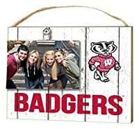"""KH Sports Fan 10""""x8"""" Wisconsin Badgers Clip It Weathered Logo Collage Photo Frame [並行輸入品]"""