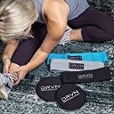 DRVN Performance Hip Workout Resistance Band Loops Gliding Discs Leg Butt Shaping Strengthening