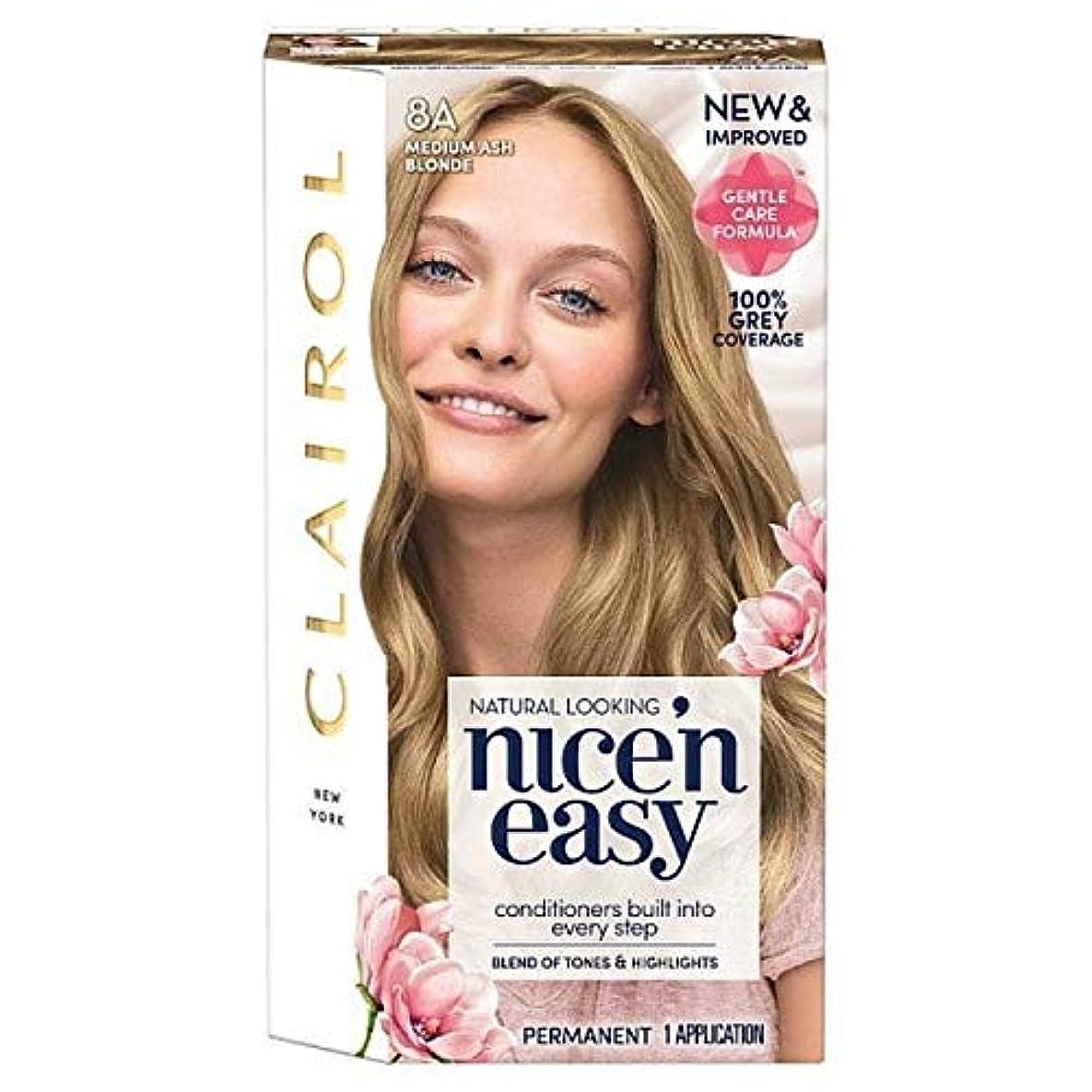 記憶粘り強いコンサルタント[Nice'n Easy] Nice'N簡単8A中アッシュブロンド - Nice'n Easy 8A Medium Ash Blonde [並行輸入品]