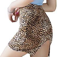 Lidoso BgBisnlz Womens Sexy See-Through Split Back Bodycon Fit Mini Skirt