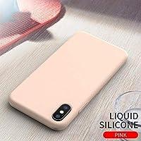AL スマホケース 液状 シリコーン ケース 超スリム 背面 カバー スタイリッシュ プレミアム ビジネス ピンク iPhoneX AL-AA-6114-PI-10