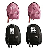 Kpop BTS Bangtan Boys Unisex Backpack Casual Schoolbag Wings ARMY Sports Bag Travel Rucksack