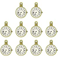 EXCEART 10pcs Clock Charm Vintage Jewelry Pendants Alloy Watch Charms DIY Making Accessories for Crafting Bracelet Necklace Earrings
