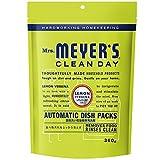 ミセスマイヤーズ クリーンデイ(Mrs.Meyers Clean Day) 食洗機用洗剤 タブレット レモンバーベナの香り 20錠 360g