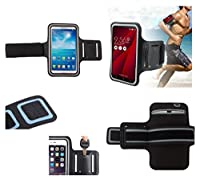 DFV mobile - Armband Professional Cover Neoprene Waterproof Wraparound Sport with Buckle for => KINGELON N9000 > Black