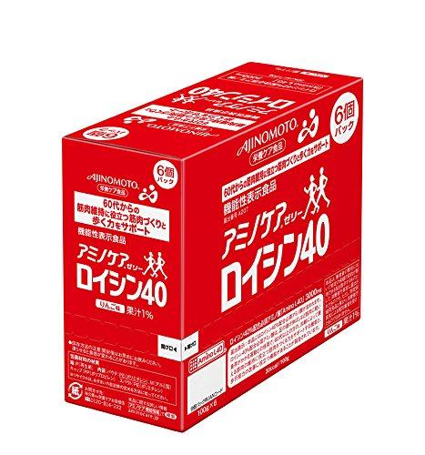 アミノケアゼリー ロイシン40 100g×6個 [機能性表示食品]