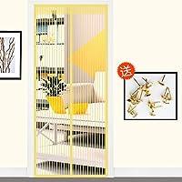 防蚊夏磁気網戸,磁気スクリーン ドア蚊防をミュート,粘着 velcro と 可能 換気 夏] 高 denisity-O 70x200cm(28x79inch)