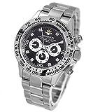 ワイルドな時を刻め!ダイヤ8個のリッチなメンズ腕時計 [ ジョンハリソン 141DS ] 誕生日プレゼント (ホワイト×ブラック)