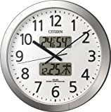 CITIZEN (シチズン) 電波掛け時計 プログラムカレンダー404 チャイム付き 4FN404-019