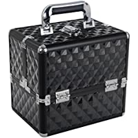 Large Makeup Case Vanity Cosmetic Storage Organizer Bag Make up Cases Black