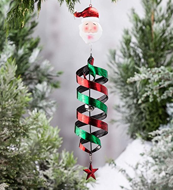 Holiday Hanging Swirl Garden Wind Spinner – 5.5 L x 5.5 W x 35 H 65A18SAN