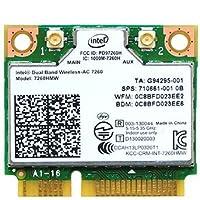 インテル Intel Dual Band Wireless-AC 7260 デュアルバンド 2.4/5GHz 802.11ac 最大867Mbps + Bluetooth 4.0 PCIe Mini half 無線LANカード 7260HMW