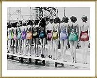 ポスター アノニマウス Coney Island Line-Up 1935 額装品 アルミ製ハイグレードフレーム(ゴールド)