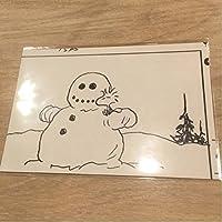 スヌーピーミュージアム 原画ポストカード ウッドストック 雪だるま