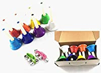 PiXiu-XP Hand Bells Set 8 Note Diatonic Metal Bells Musical Learning at an Early Age Musical Toy Percussion Instrument Musical Gifts for Kids.(A pair of wrist bells) [並行輸入品]