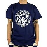 (アスナディスペック)ASNADISPEC tシャツ メンズ 大きいサイズ ティシャツ 半袖Tシャツ ミリタリー調 ガスマスク 柄 ブランド ロゴ プリント asst5163 L NDIGO