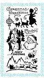 雪とクリスマス ~ クリアスタンプ (9x18cm) // Snow and Christmas ~ Clear stamps pack (9x18cm) FLONZ