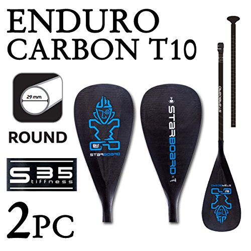 [해외]2018 STARBOARD ENDURO 2.0 CARBON T10 WITH ROUND HYBRID CARBON S35 스타 보드 엔듀로 2 피스 패들 보드 SUP 삽/2018 STARBOARD ENDURO 2.0 CARBON T10 WITH ROUND HYBRID CARBON S35 Starboard Enduro 2 Piece Paddle Board SUP Supp