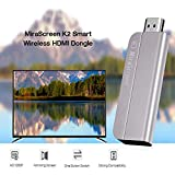 Wifi Display Dongle, MiraScreen 1080P HDMI Airplay Miracast Wireless Display Adapter for Android/Samsung/iPhone/iPad