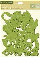Studio 112 Glitter Chipboard-Green Swirls (並行輸入品)