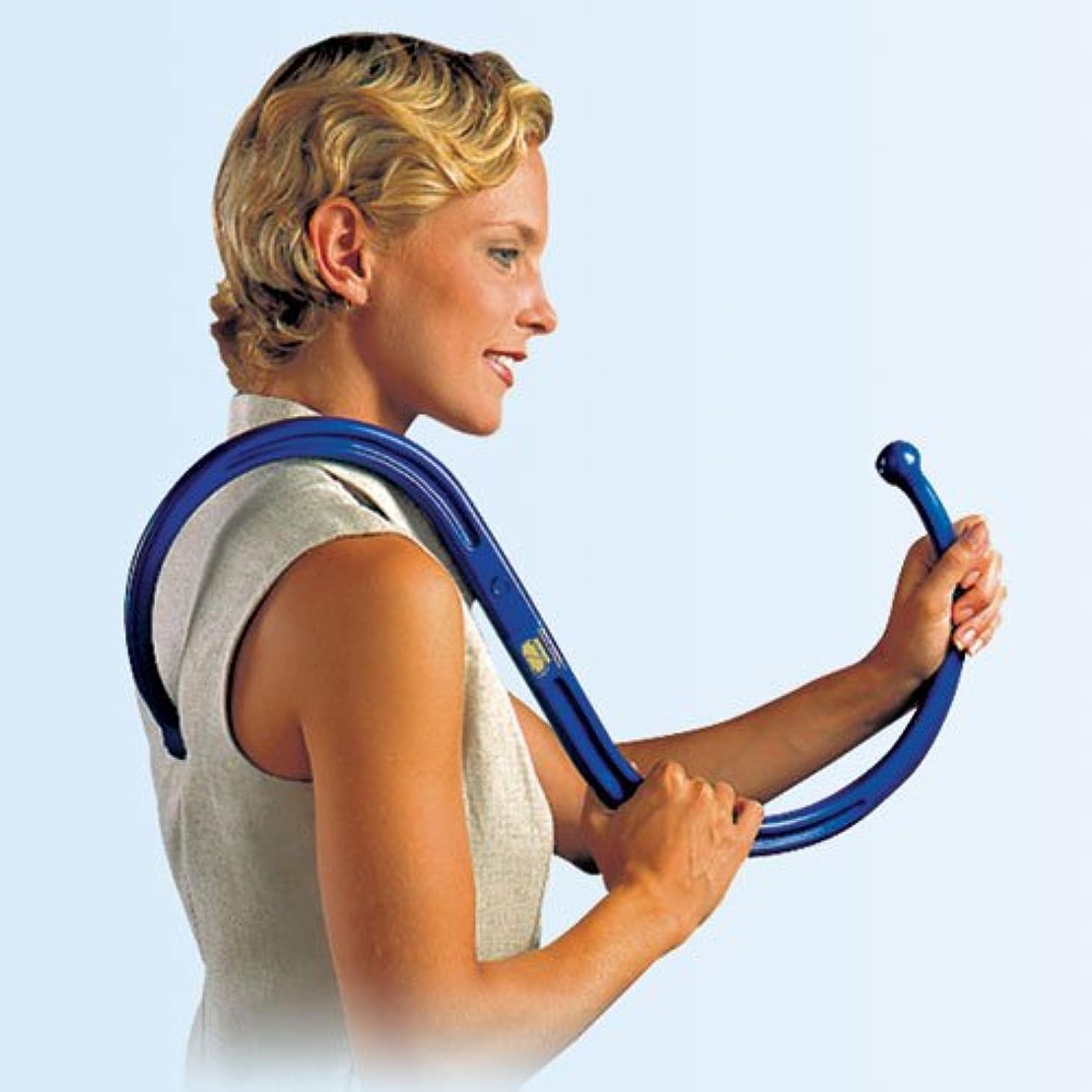 あなたが良くなります舗装する人間The Pressure Positive CompanyのオリジナルバックノーバーII トリガーポイントセラピーセルフマッサージツール S字型 首?肩?背中の筋膜リリースディープ筋肉?筋肉痛の緩和装置