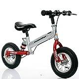 バランスバイク 子ども用 ウォーキングバイク 衝撃吸収設計 幼児 ランニングバイク べダルなし ブレーキ付き 3歳-6歳 向け JZPHC-005-R (レッド)