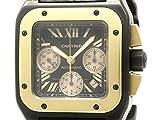 [カルティエ]Cartierカルティエ サントス 100 XL クロノグラフ ピンクゴールド チタン 自動巻き メンズ 時計W2020004(BF113883)[中古]