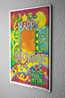 Tin Sign ブリキ看板 Fun Birthday Card Shield Happy Birthday Metal Vintage Decoration