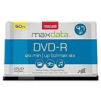 Maxell DVD Recordableメディア–DVD - R–16x–4.70GB–50パックスピンドル/ 638011/