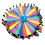 運動会 幼稚園 保育園用のカラカラ プレイ傘 2m~10m展開 8色 スポーツ 屋外の活動 訓練器具 (6m)