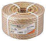 TRUSCO 麻ロープ 茶 9×30m 3つ打タイプ R930A