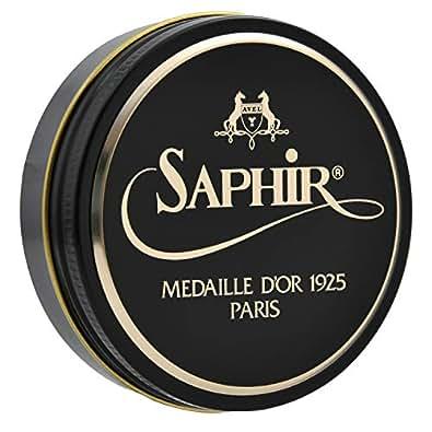 [SaphirNoir(サフィールノワール)] ビーズワックスポリッシュ 50ml 靴磨き 鏡面磨き 補色 ツヤ出し 9551002 グレイ Free