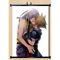 """Kingdom Heartsアニメファブリック壁スクロールポスター24"""" x32"""" )インチcostum-madeコスプレ"""