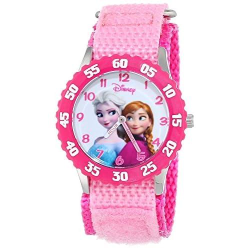 Disney(ディズニー)キッズ Frozen アナと雪の女王 アンナ ステンレス スチール ウォッチ ピンク 並行輸入品