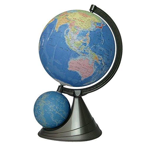 昭和カートン 二球儀地球儀 球径26cm 26-GF-J 行政図タイプ 日本地図付
