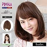 PRISILA(プリシラ) ふんわり総手植え前髪ウィッグ・ななめバング FX-101 TDB(耐熱ダークブラウン)