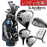 (左用)セントアンドリュース SAF-505Ti メンズ ゴルフセット 11本組 キャディバッグ付 (Regular)