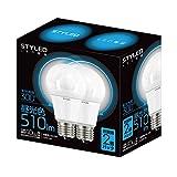 STYLED LED電球 E26口金 2個パック 一般電球 全方向タイプ 6.5W 510lm (昼光色相当・電球40W相当) LLDAD7O1P2