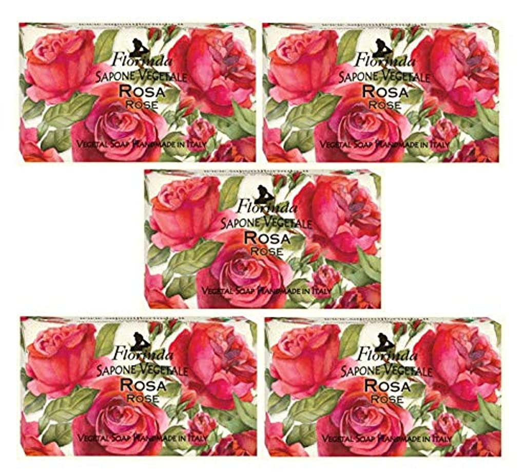 精算ウェイドしがみつくフロリンダ フレグランスソープ 固形石けん 花の香り ローズ 95g×5個セット