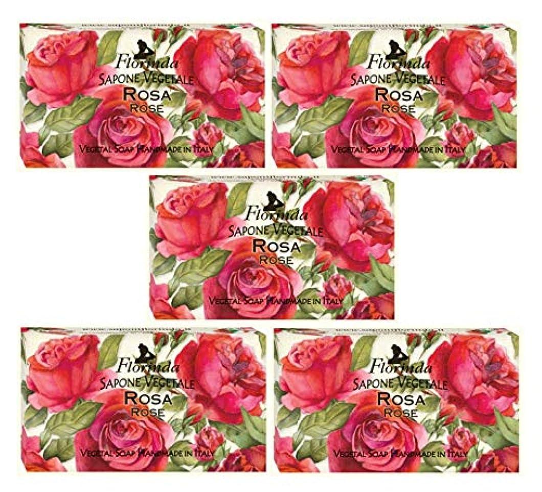 抹消簿記係切手フロリンダ フレグランスソープ 固形石けん 花の香り ローズ 95g×5個セット