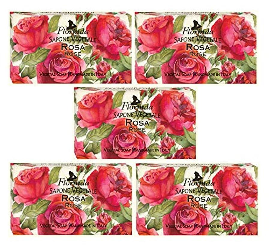 公爵のれん周囲フロリンダ フレグランスソープ 固形石けん 花の香り ローズ 95g×5個セット