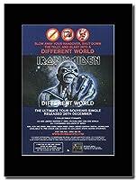 - Iron Maiden - Different World - つや消しマウントマガジンプロモーションアートワーク、ブラックマウント Matted Mounted Magazine Promotional Artwork on a Black Mount