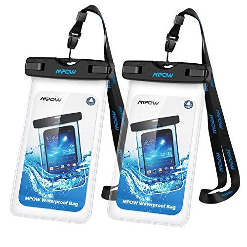 Mpowユニバーサル防水ケース、ipx8防水電話ポーチドライ...