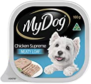 MY DOG Chicken Supreme Wet Dog Food 100g Tray, Adult, 24 Pack