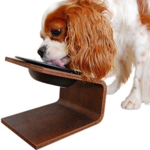 iDog Living Keatキート Lサイズ フードボウル別売 ブラウン 犬 食器台