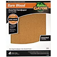 Gator Finishing 4461 60/100/150/220 Grit Garnet Sanding Sheets (4 pack) 9 x 11 [並行輸入品]