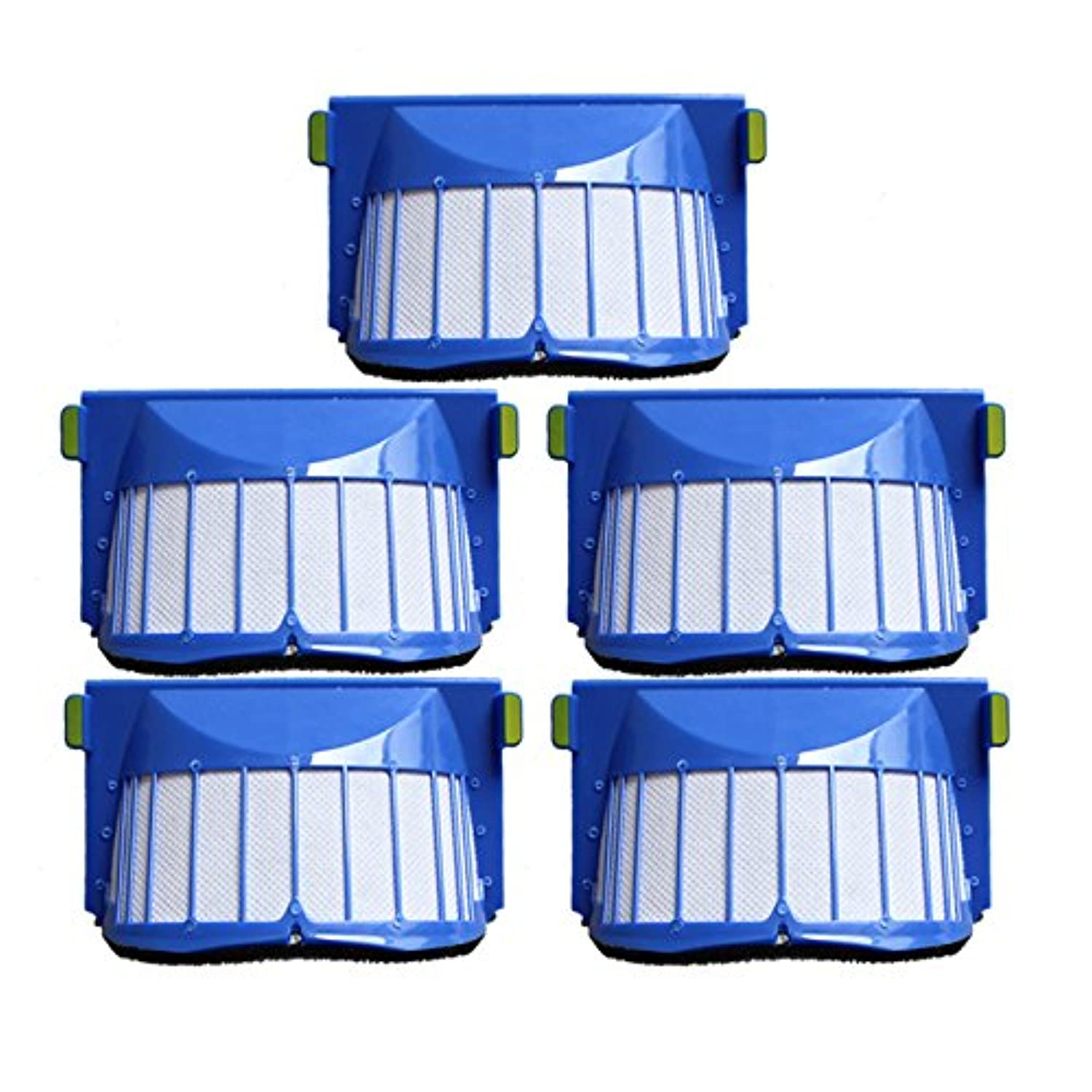 Zhhlinyuan 5pcs 掃除機アクセサリー Cotton Filter Accessories Perfect Fit for iRobo Roomb 601 527E 529 528 56708 Cleaning Robot