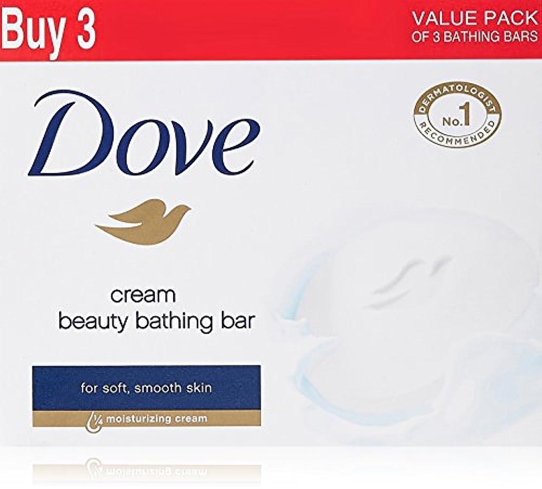 鏡陰気捨てるDove Cream Beauty Bathing Bar, 4x75g