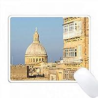 カルメル教会、タル・カルメリタニ、バレッタ、マルタのキュポラ。 PC Mouse Pad パソコン マウスパッド